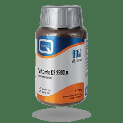 Vitamin D3 2500i.u 60 Tablets